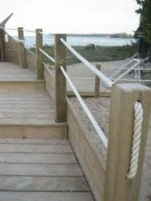 Get deck lighting ideas from professional deck installers. Find out where to install lights on your deck and how much it will cost. Rope Fence, Bamboo Fence, Pallet Fence, Wooden Fence, Fence Stain, Brick Fence, Concrete Fence, Cedar Fence, Gabion Fence