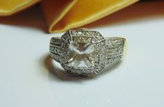 Gorgeous Clear Cubic Zirconia & Pave CZ by BuccaneerTrading, $65.00