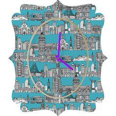 Sharon Turner San Francisco Blue Quatrefoil Clock #SanFrancisco #USA #sharonturner