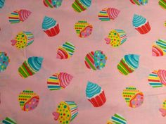 1 yard Timeless Treasures cupcake quilt fabric by the yard cupcake fabric quilting sewing via Etsy