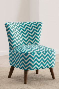 Mid Century Modern Chair {Zig Zag Turquoise} by Gold Coast Furniture.