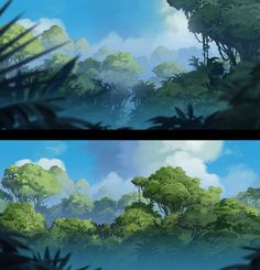 Some gorgeous, hi-res Rayman Origins environment concept art by Christophe Messier. Environment Painting, Environment Concept Art, Environment Design, Background Pictures, Art Background, Fantasy Landscape, Landscape Art, Vegetal Concept, Landscape Illustration