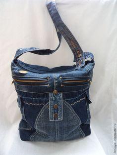 """Купить Двусторонняя джинсовая сумка """"СКОРОСТЬ"""" - синий, абстрактный, синяя сумка, джинсовая сумка"""