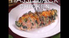 Spinach Stuffed Hasselback Chicken