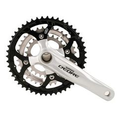 Shimano Deore SL 2-piece 9-Speed Mountain Bicycle Crank Set - FC-M590 (Silver - 170 x 26/36/48)