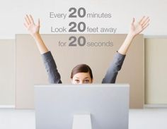 If you work long hours with a computer take a 20-second computer break to help your eye sight  #20/20  #medicinesmexico #eyes #computer