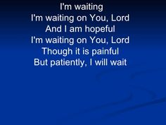 """WAIT FOR ME FROM DEVOTIONAL """"WHERE PEACEFUL WATERS FLOW""""   Sometimes in life, you get in such a hurry. Why are you in such a hurry? You do not pace yourself; you start too fast; you do not move with patience. You start without Me. Waiting on Me is not always easy, but I will come. Allow Me to take you through the trials of this life. Allow Me to guide the way. Allow Me to teach you along the way.  I will move that mountain for you if you wait on Me. Do not leave Me. I am here to help you…"""