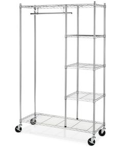 Perfect if you have a large closet or entry way and need to move your items around! Or if you are constantly rearranging your space! Whitmor Rolling Garment Rack with Shelves Do It Yourself Organization, Home Organization, Ikea Omar, Front Closet, Portable Closet, Hanging Bar, Clothing Storage, Wardrobe Clothing, Clothing Racks
