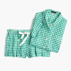 Shop J.Crew for the Gingham pajama set for Women. Find the best selection of Women Sleepwear & Loungewear available in-stores and online. Cute Pajama Sets, Cute Pajamas, Pajama Pattern, Crew Clothing, Weekend Wear, Beautiful Outfits, Beautiful Clothes, Gingham, Lounge Wear