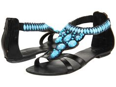 Add turquoise toe polish and I'm ready for a night on the town in these jeweled sandals.