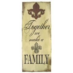 Together We Make a Family Wall Plaque | Shop Hobby Lobby