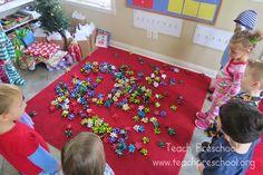 Simple gift bow games for preschoolers by Teach Preschool