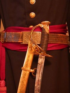 """CIVIL WAR SAUERBIER, HIGH-GRADE, PRESENTATION CAVALRY OFFICERS SABRE OF BREVET BRIG. GENERAL CHARLES A. HOUGHTALING (FIRST ILLINOIS ARTILLERY), HERO OF """"THE SLAUGHTER PEN"""" AT STONES RIVER. TOGETHER WITH HIS STAFF FROCK COAT, SWORD BELT, SWORD SASH"""