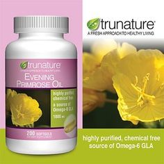 TruNature Evening Primrose Oil 1000 mg, 200 Softgels - TruNature Evening Primrose Oil Provides a natural source of gamma-linolenic acid (GLA). Highly purified chemical free. A source of Omega-6 GLA. Enhance a woman's well-being. Provides support for many symptoms of PMS and menopause. Evening Primrose Oil is used to enhance women's... - http://ehowsuperstore.com/bestbrandsales/health-personal-care/trunature-evening-primrose-oil-1000-mg-200-softgels