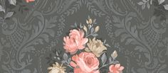 An elegant wallpaper featuring and all over floral damask pattern. Shown here in the black colourway. Please request a sample for a true colour match. Paste-the-wall product. Embossed Wallpaper, Damask Wallpaper, Wallpaper Panels, Black Wallpaper, Wallpaper Roll, Magnolia Wallpaper, Floral Umbrellas, Buy Wallpaper Online, Golden Tree