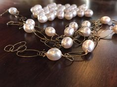 Freshwater pearls and brass ISAJUL Jewelry