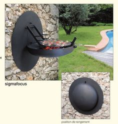 wall barbeque.                                            How cool