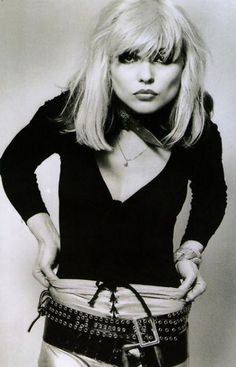 Debbie Harry from the band Blondie was one of the biggest trend setters, especially in the 80's. She had many looks over the years, so it was hard to pick just one...but we love this photo!