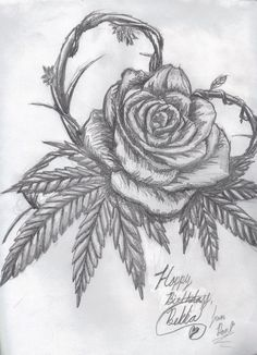 Cannabis Rose by Kz-animal. I want something similar n it will happen ;)