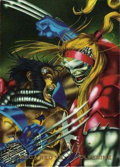 Omega Red vs Wolverine