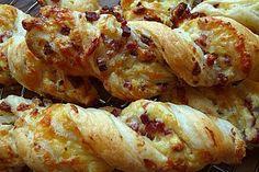 Blätterteig-Schinken-Käse-Stangen