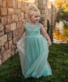 Take a look at this Just Couture Mint Lace & Tulle Dress - Infant, Toddler & Girls today!