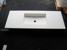 Faeber Mode Series 1 Stylish 1200mm Infinite Matt White Corian Central Basin | eBay £349.99 - great as counter top and sink