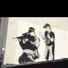 street art. stencil.
