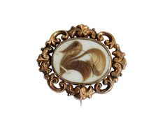 Mourning brooches contain a lock of hair. Unusual jewellery is always welcome at Vintage Cash Cow.