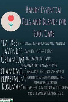 Essential oils are great for foot care! Try a foot bath with essential oils to cleanse, deodorize, purify the skin, reduce aches and pains, treat blisters, cuts, and wounds. #aromatherapy (Best Skin Recipes For)