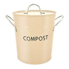 Recycle compost pail buttercream