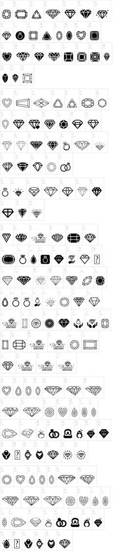 Diamonds 100% free dingbats