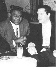 Fats Domino meets Elvis in Las Vegas 1964 (courtesy of Mr. Herbert Hardesty)