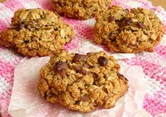 These really are the very best healthy chocolate chip oatmeal cookies I've ever had! They're so sweet, chewy and chocolatey - just like the perfect oatmeal cookie should be. Just 100 calories for a huge cookie!