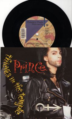 """PRINCE Thieves In The Temple 1990 Uk Issue 7"""" 45 rpm Vinyl Single record pop dance hip hop 90s music purple rain W9751 Free Shipping"""