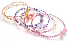 Delicate Sorbet Shades Braided Bracelets Summery Braided bangles that can be worn all year round.