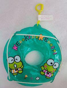 """91 Rare & New Vtg Sanrio Keroppi 5.5"""" Swimming Ring Key Holder Made in Japan"""