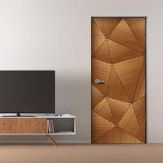 door geometric cocobolo mural doors lines office interior murals gate