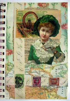 Lisa's Collage Stuff Blog: My art journal - gluebook pages