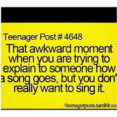 I just kind of say the words then hum the melody because damn I'm a bad singer