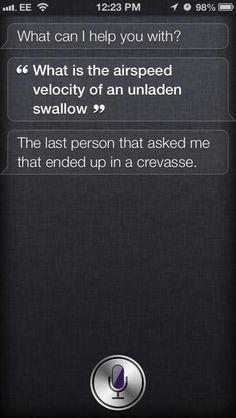 I Guess Siri is a Monty Python Fan