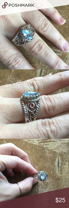 Ring Sterling silver solid 925 authentic stones 💎 Ring Sterling silver solid 925 size 11 authentic stones 🌺 Jewelry Rings