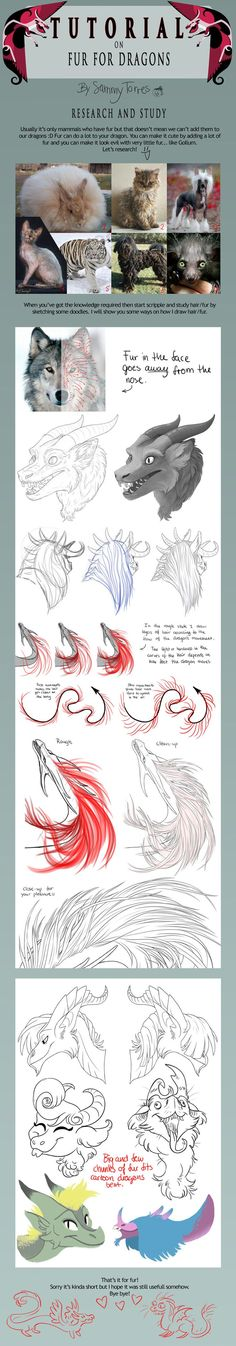 TUTORIAL: Fur for Dragons by SammyTorres on DeviantArt
