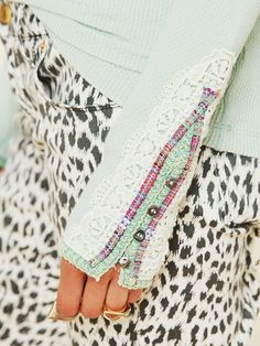 Free People Meadow Fiesta Cuff Thermal - lace