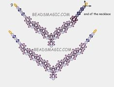 Free pattern for beaded necklace Evita U need pearls 6-8 mm rondelle beads 3x 4