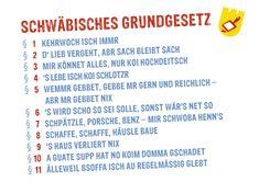 Postkarte: Schwäbisches Grundgesetz