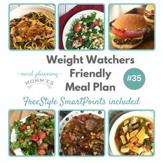 This free dinner meal plan uses 6 delicious recipes that are low in Weight Watcher FreeStyle SmartPoints! Complete with free printable grocery list!