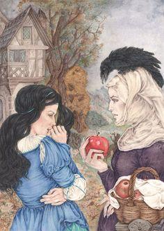 BIANCANEVE  F. Grimm  per Edimedia Illustrazione Lucia Campinoti