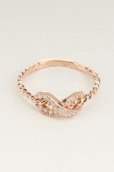 Rose Gold Infinity Ring - Great Mother's Day gift