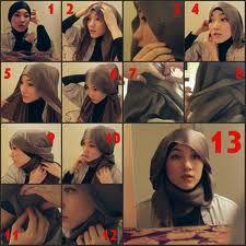even she wear 'short' hijab, i love her style so much! Muslim Fashion, Modest Fashion, Hijab Fashion, Islamic Fashion, Fashion 2020, Look Fashion, Fashion Idol, Cara Hijab, How To Wear Hijab